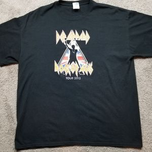 Def Leppard Rock of Ages Tour 2012 mens xl